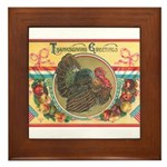 Turkey Sampler Framed Tile