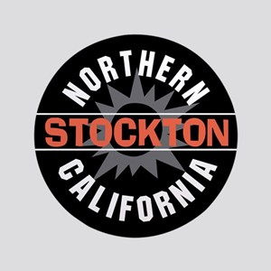 "Stockton California 3.5"" Button"