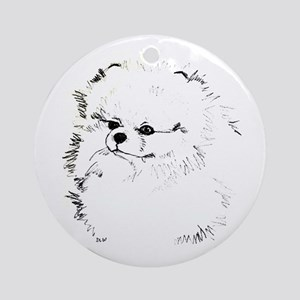 Pom Head 3 blk.&wh. Ornament (Round)