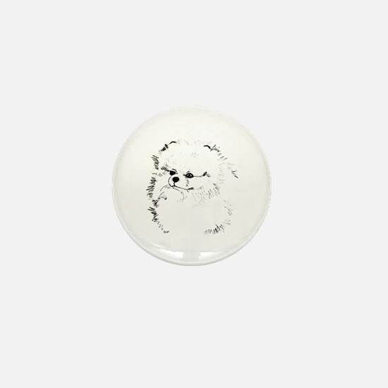 Pom Head 3 blk.&wh. Mini Button