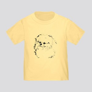 Pom Head 3 blk.&wh. Toddler T-Shirt