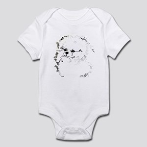 Pom Head 3 blk.&wh. Infant Bodysuit