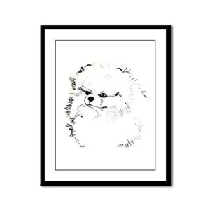 Pom Head 3 blk.&wh. Framed Panel Print