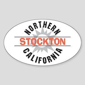 Stockton California Oval Sticker
