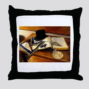 Worshipful Master Throw Pillow