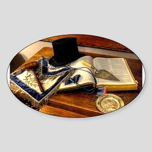Worshipful Master Oval Sticker