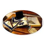 Worshipful Master Oval Sticker (10 pk)