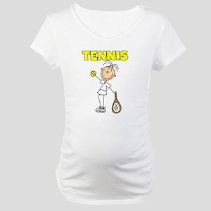 TENNIS Girl Stick Figure Maternity T-Shirt