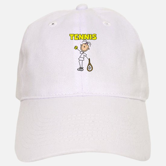 TENNIS Girl Stick Figure Baseball Baseball Cap
