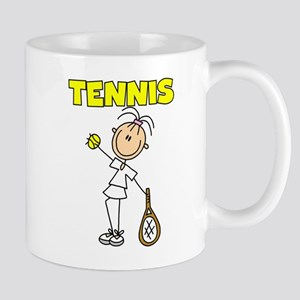 TENNIS Girl Stick Figure Mug