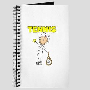 TENNIS Girl Stick Figure Journal