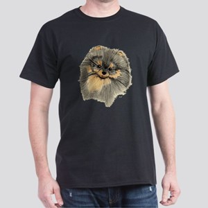 Pomeranian Black & Tan pencil Dark T-Shirt