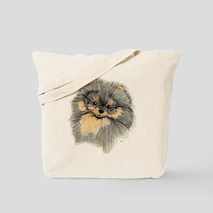 Pomeranian Black & Tan pencil Tote Bag
