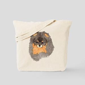 Pom Blk & Tan Headstudy Tote Bag