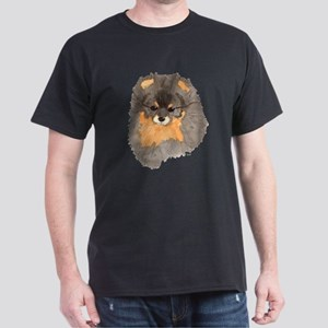 Pom Blk & Tan Headstudy Dark T-Shirt