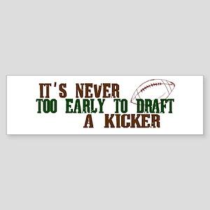 Fantasy Football Draft (Kicker) Bumper Sticker