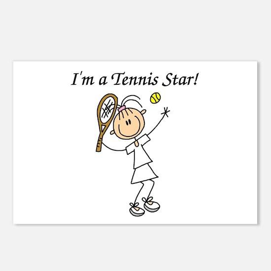 Girl Tennis Star Postcards (Package of 8)