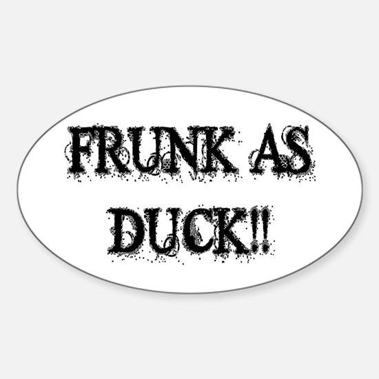 Frunk As Duck Oval Decal