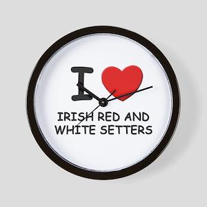 I love IRISH RED AND WHITE SETTERS Wall Clock