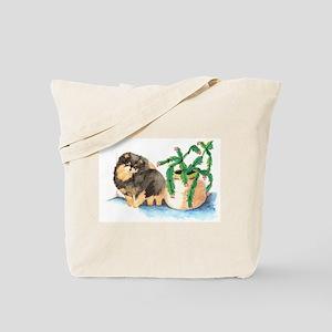 Pom Blk & Tan w/Cactus Tote Bag
