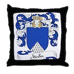 Merlin Family Crest Throw Pillow