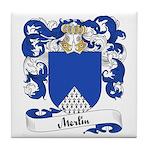 Merlin Family Crest Tile Coaster