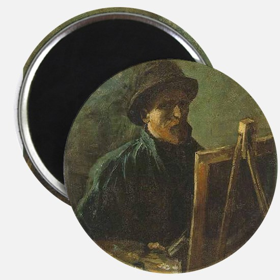 Self Portrait with Easel Magnet