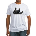 Black Vulture Family Fitted T-Shirt