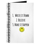 Goals - Write It Down Smiley Face Journal