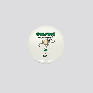 Golfing is Groovy Mini Button