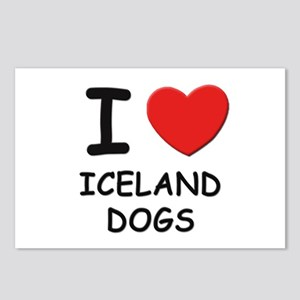 I love ICELAND DOGS Postcards (Package of 8)