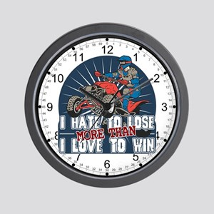 Hate to Lose ATV Wall Clock