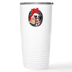 Christmas pet wreath Stainless Steel Travel Mug