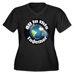 ccTogether Women's Plus Size V-Neck Dark T-Shirt