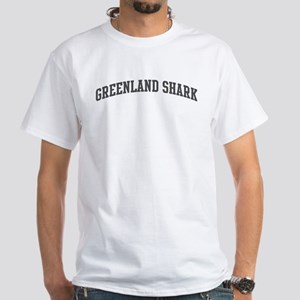 Greenland Shark (curve-grey) White T-Shirt