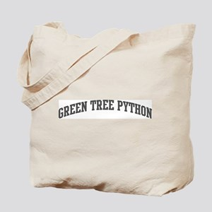 Green Tree Python (curve-grey Tote Bag