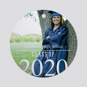 Custom Graduation Photo Class of 2017 Round Orname