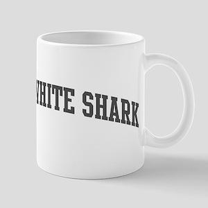 Great White Shark (curve-grey Mug