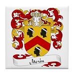 Morin Family Crest Tile Coaster