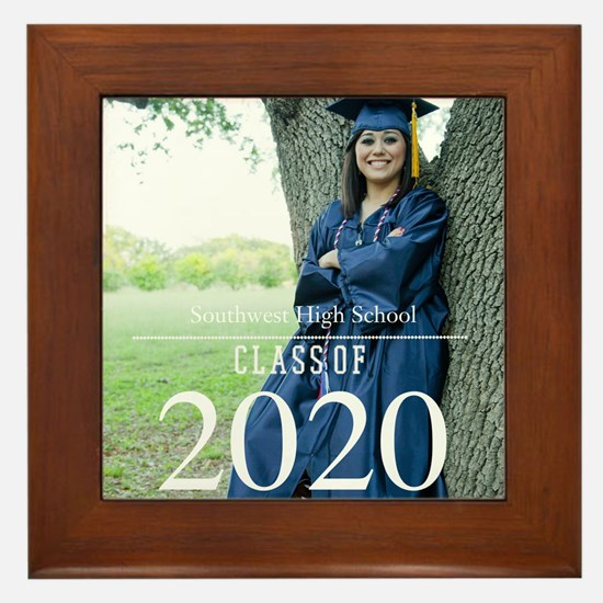 Custom Graduation Photo Class of 2017 Framed Tile