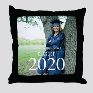 Custom Graduation Photo Class of 2017 Throw Pillow