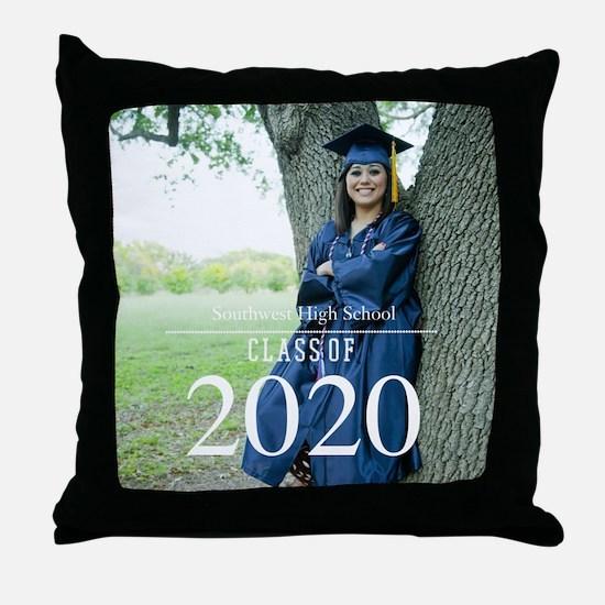 Custom Graduation Photo Class of 2017 Throw Pillow