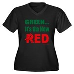 Green is Red Women's Plus Size V-Neck Dark T-Shirt