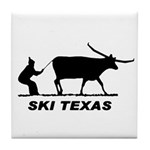 Ski Texas Tile Coaster