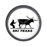 Ski Texas Wall Clock