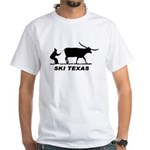 Ski Texas White T-Shirt