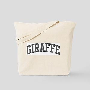 Giraffe (curve-grey) Tote Bag