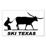 Ski Texas Rectangle Sticker