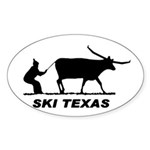 Ski Texas Oval Sticker