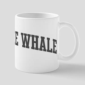 Minke Whale (curve-grey) Mug